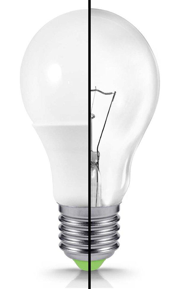 светодиод против лампочки Ильича